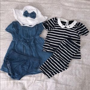🍭Bundle of 5 baby girl clothes size 3-6 months